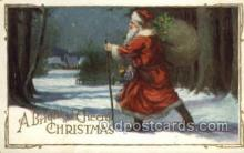 hol002934 - Santa Claus, Christmas, Old Vintage Antique Postcard Post Card