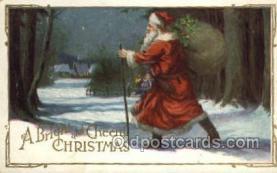 hol002934 - Santa Claus, Christmas, Old Vintage Antique Postcard Post Card