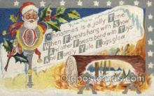 hol002935 - Santa Claus, Christmas, Old Vintage Antique Postcard Post Card