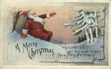 hol002936 - Santa Claus, Christmas, Old Vintage Antique Postcard Post Card