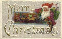 hol002937 - Santa Claus, Christmas, Old Vintage Antique Postcard Post Card