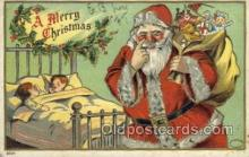 hol002943 - Santa Claus, Christmas, Old Vintage Antique Postcard Post Card