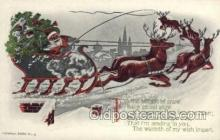 hol002944 - Black Santa Claus, Christmas, Old Vintage Antique Postcard Post Card