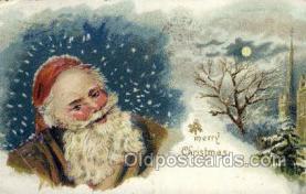 hol002945 - Santa Claus, Christmas, Old Vintage Antique Postcard Post Card