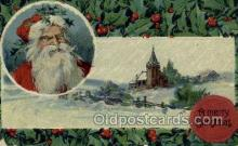 hol002948 - Santa Claus, Christmas, Old Vintage Antique Postcard Post Card