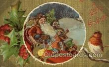hol002949 - Santa Claus, Christmas, Old Vintage Antique Postcard Post Card