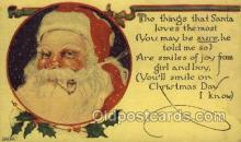 hol002953 - Santa Claus, Christmas, Old Vintage Antique Postcard Post Card