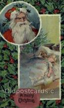 hol002961 - Santa Claus, Christmas, Old Vintage Antique Postcard Post Card