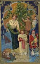 hol002964 - Santa Claus, Christmas, Old Vintage Antique Postcard Post Card