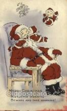 hol002966 - Whitney Publishing Santa Claus, Christmas, Old Vintage Antique Postcard Post Card