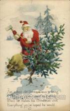 hol003037 - Christmas Santa Claus Postcard Postcards