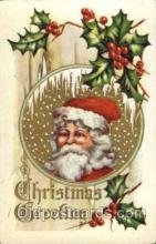 hol003054 - Christmas Santa Claus Postcard Postcards