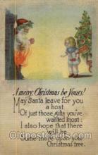 hol003059 - Christmas Santa Claus Postcard Postcards
