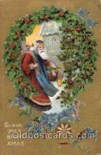 hol003077 - Christmas Santa Claus Postcard Postcards