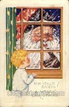 hol003081 - Christmas Santa Claus Postcard Postcards