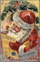 hol003090 - Christmas Santa Claus Postcard Postcards