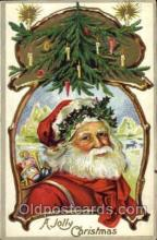 hol003108 - Christmas Santa Claus Postcard Postcards