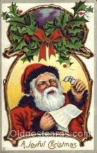 hol003109 - Christmas Santa Claus Postcard Postcards