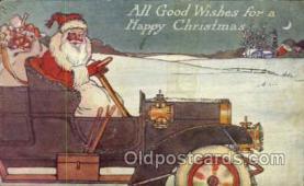 hol003142 - Christmas Santa Claus Postcard Postcards