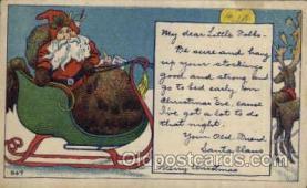 hol003144 - Christmas Santa Claus Postcard Postcards