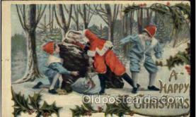 hol003154 - Christmas Santa Claus Postcard Postcards