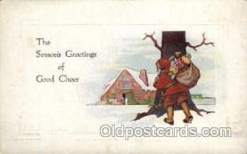 hol003160 - Christmas Santa Claus Postcard Postcards