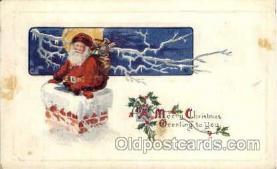 hol003166 - Christmas Santa Claus Postcard Postcards