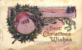 hol003167 - Christmas Santa Claus Postcard Postcards
