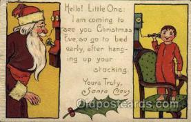 hol003182 - Christmas Santa Claus Postcard Postcards