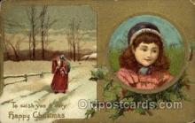 hol003184 - Christmas Santa Claus Postcard Postcards
