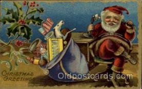 hol003192 - Christmas Santa Claus Postcard Postcards