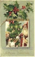 hol003210 - Christmas, Santa Claus Postcard Post card