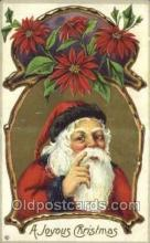 hol003220 - Christmas, Santa Claus Postcard Post card