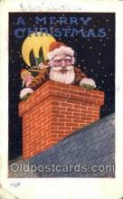 hol003221 - Christmas, Santa Claus Postcard Post card
