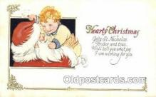 hol003237 - Christmas, Santa Claus Postcard Post card