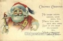 hol003238 - Christmas, Santa Claus Postcard Post card