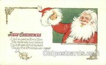 hol003242 - Christmas, Santa Claus Postcard Post card