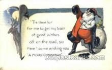 hol003243 - Christmas, Santa Claus Postcard Post card