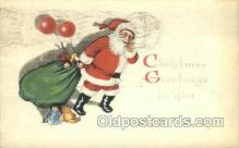 hol003244 - Christmas, Santa Claus Postcard Post card