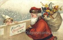 hol003246 - Christmas, Santa Claus Postcard Post card