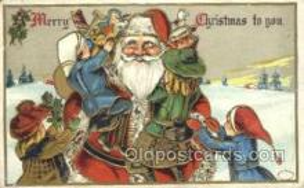 hol003248 - Christmas, Santa Claus Postcard Post card