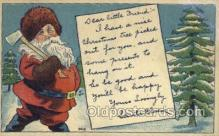 hol003252 - Christmas, Santa Claus Postcard Post card