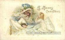 hol003253 - Green Suit Christmas, Santa Claus Postcard Post card