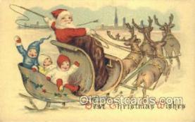 hol003254 - Christmas, Santa Claus Postcard Post card