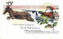 hol003255 - Christmas, Santa Claus Postcard Post card
