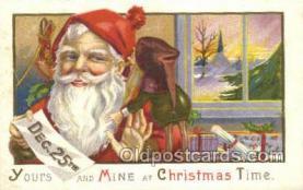 hol003265 - Christmas, Santa Claus Postcard Post card