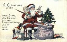 hol003270 - Christmas, Santa Claus Postcard Post card