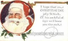 hol003278 - Christmas, Santa Claus Postcard Post card