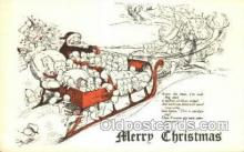 hol003282 - Christmas, Santa Claus Postcard Post card