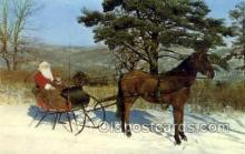 hol003291 - Christmas, Santa Claus Postcard Post card